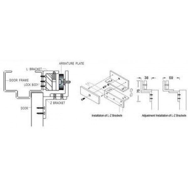 Nosač El.Magnetne Brave B1012A Kontrola pristupa Kućna elektronika