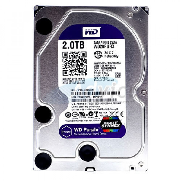 Hdd 3Tb Western Digital Purple Hard diskovi Video nadzor